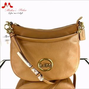 Coach Brown Elle Pebbled Leather Hobo